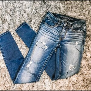 American Eagle jeans! Size 0 but are super stretch